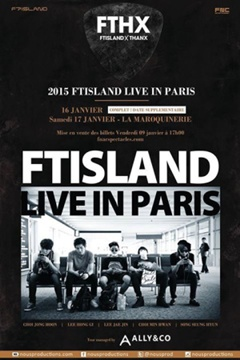 F.T Island Konzert in Paris