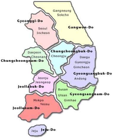 Provinzen Koreas